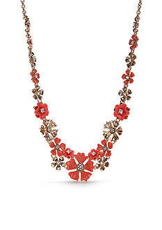 Napier Gold-Tone Floral Blossom Collar Necklace