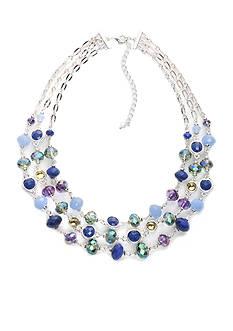 Napier Silver-Tone Multi Twist Layered Necklace