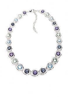 Napier Silver-Tone Multi Twist Collar Necklace