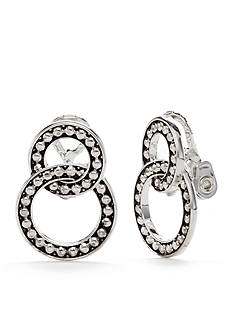 Napier Silver-Tone Mix It Up Clip Earrings