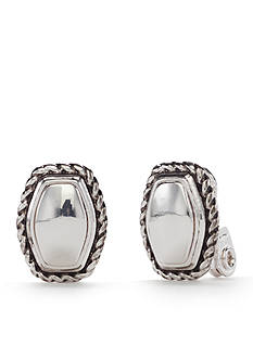 Napier Silver-Tone Mix It Up Button Clip Earrings