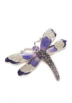 Napier Silver-Tone Dragonfly Boxed Pin