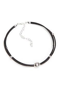 Napier Silver-Tone Multi Strand Choker Necklace