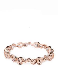Napier Rose Gold-Tone Stretch Bracelet