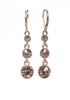 Napier Rose Gold-Tone Drop Earrings