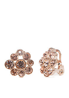 Napier Rose Gold-Tone Button Earrings