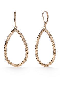 Napier Gold-Tone Rope Teardrop Earrings