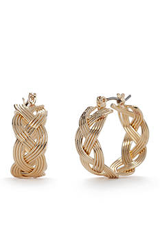 Napier Layered Gold Hoop Earrings