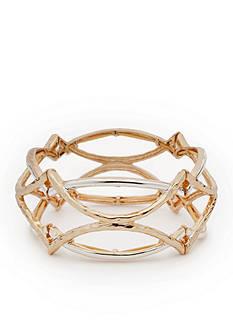 Napier Two-Tone Golden Girl Stretch Bracelet