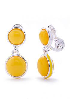 Napier Silver-Tone Brite Spot Double Drop Earrings