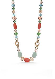 Napier Gold-Tone Pastel Valley Collar Necklace