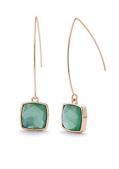 Napier Gold-Tone Pastel Valley Elongated Drop Earrings