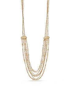 Napier Gold-Tone Fine Hour Long Necklace