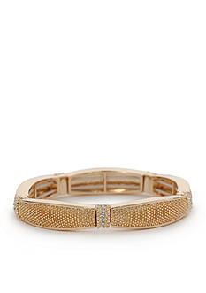 Napier Gold-Tone Fine Hour Stretch Bracelet