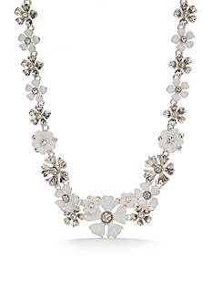 Napier Silver-Tone Floral Blossom Flower Statement Necklace