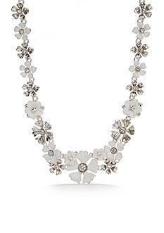 Napier Silver-Tone Floral Blossom Flower Statement Necklace