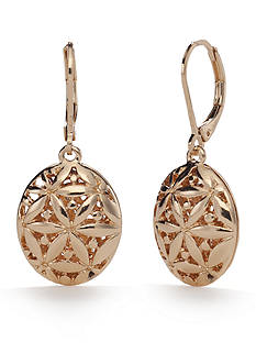 Napier Gold-Tone Point Of View Drop Earrings