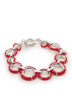 Napier Silver-Tone Americana Classic Flex Bracelets