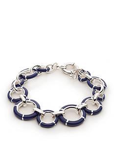 Napier Silver-Tone Americana Classic Flex Bracelet