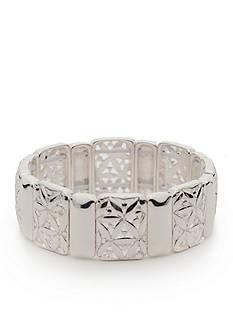 Napier Silver-Tone Point Of View Stretch Bracelet