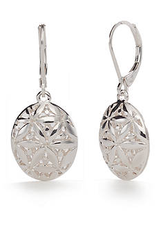 Napier Silver-Tone Point of View Drop Earrings