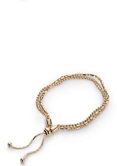 Napier Gold-Tone Fine Hour Slider Chain Bracelet