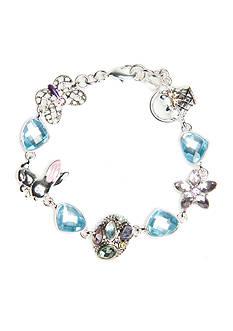 Napier Silver-Tone Easter Charm Boxed Bracelet