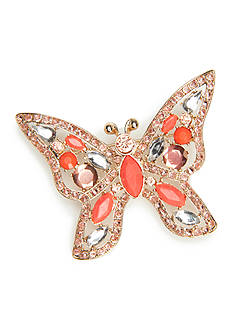 Napier Gold-Tone Butterfly Boxed Pin