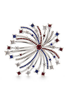 Napier Silver-Tone Fourth of July Fireworks Boxed Pin