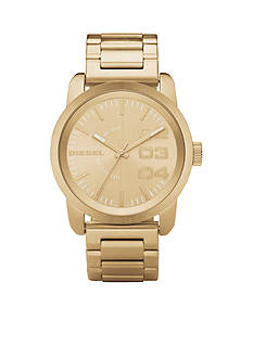 Diesel Men's Gold Stainless Steel Three-Hand Watch