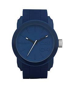 Diesel Men's Blue Silicone Three-Hand Watch