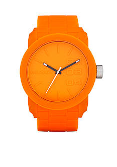 Diesel Men's Color Domination Orange Silicone Three-Hand Watch