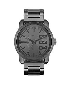 Diesel Men's Franchise-Special J Gunmetal Grey Stainless Steel Round Watch with Stainless Steel Bracelet