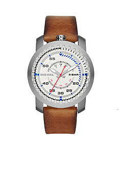 Men's Diesel Rig Three-Hand Tan Leather Watch