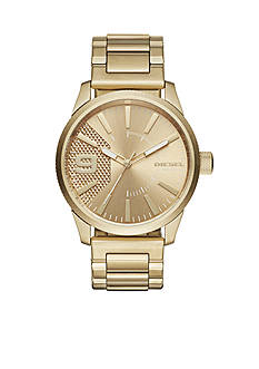 Diesel Men's Rasp Gold-Tone Stainless Steel Watch