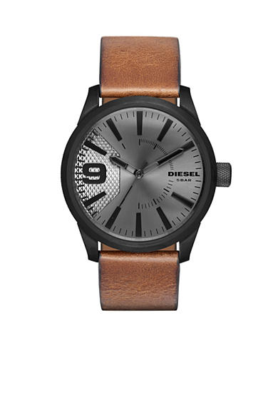 Diesel Men's Rasp Brown Leather Watch