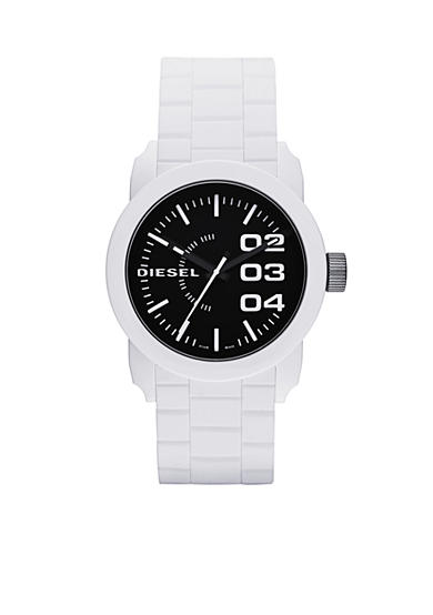 Diesel Men's White Silicone Three-Hand Watch