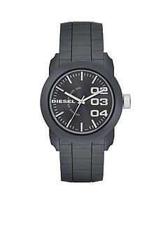 Diesel Men's Gray Silicone Three-Hand Watch