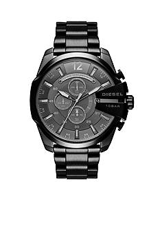 Diesel Men's Mega Chief Chronograph Black IP Stainless Steel Watch