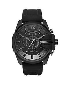 Diesel Men's Mega Chief Black Silicone Chronograph Watch