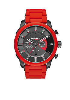 Diesel Men's Stronghold Red Chronograph Watch