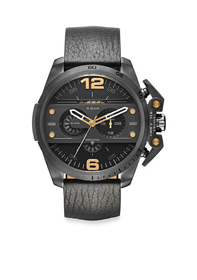 Diesel Men's Ironside Black with Gold-Tone Accents Chronograph Watch