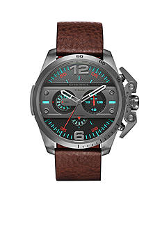Diesel Men's Diesel Ironside Brown Leather Chronograph Watch