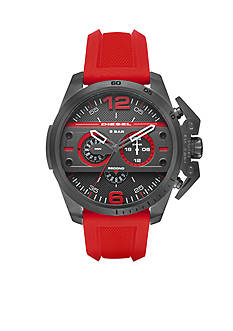 Diesel Men's Diesel Ironside Red Silicone Chronograph Watch