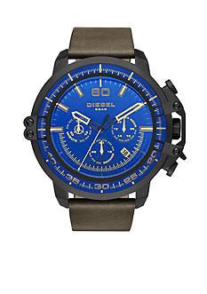 Diesel Men's Deadeye Dark Brown Leather Watch