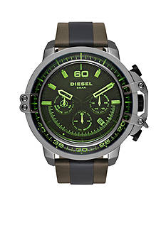 Diesel Men's Deadeye Leather Strap Watch