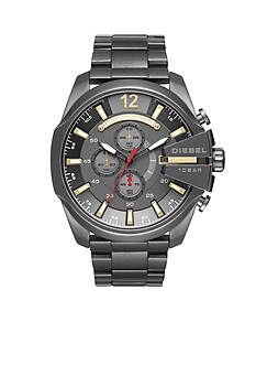 Diesel Men's Mega Chief Gunmetal IP Chronograph Watch