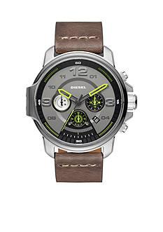 Diesel Men's Whiplash Gray Leather Chronograph Watch