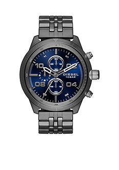 Diesel Men's Padlock Gray Stainless Steel Chronograph Watch