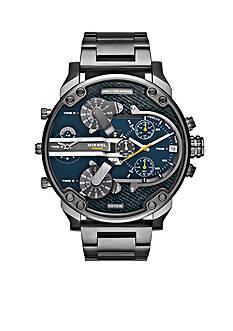 Diesel Mr. Daddy 2.0 Gunmetal IP Stainless Steel Multifunction Watch